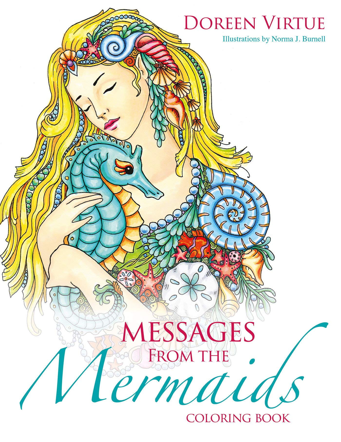 Messages From The Mermaids Coloring Book Amazon In Doreen