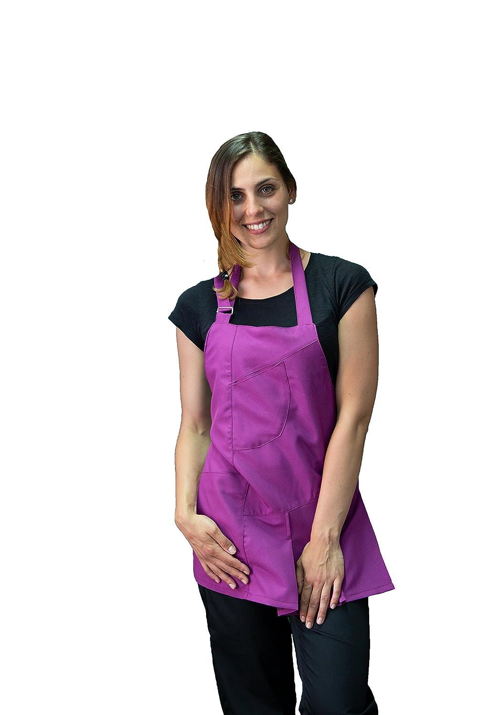 tessile astorino davantino, grembiule donna, per parrucchiera ed estetista, bar, ristoranti, pub, Vari Colori, Made in Italy (arancione)