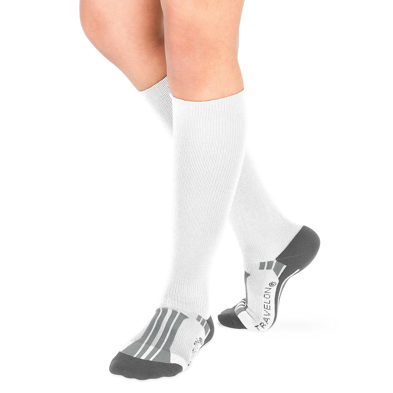 Travelon Compression Travel Socks, Black/Gray, Medium 12527 50