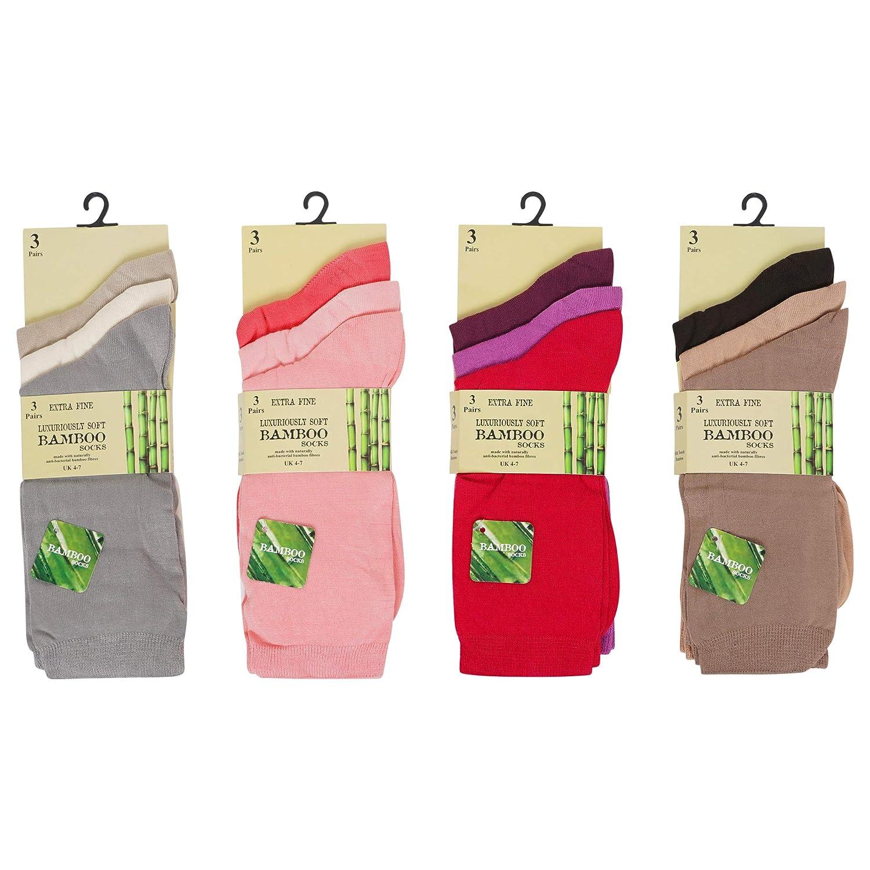 Womens Trainer Socks Bamboo Ankle Socks Soft Breathable Odour Resistant UK 4-7