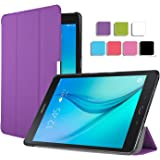 Samsung Galaxy Tab A 9.7 Hülle,IVSO Hohe Qualität PU-Leather Tasche Case Schutzhülle Cover - mit Standfunction , Slim Smart-Cover Style Leder Folio Schutzhülle NUR geeignet für Samsung Galaxy Tab A 9.7 Zoll Tablet PC , Lila