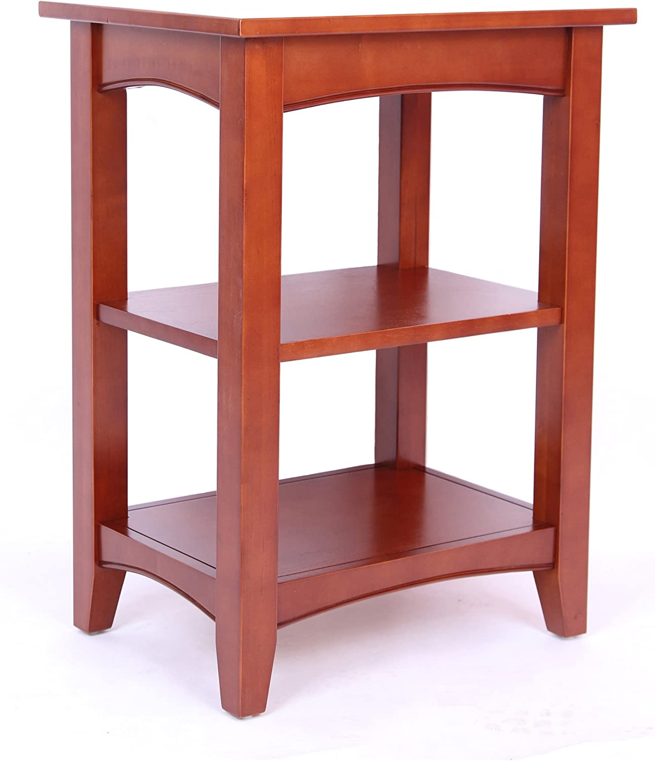 Shaker Cottage End Table with 2 Shelves, Cherry