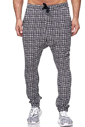 Redbidge Hommes Pantalon Jogging à Carreaux Pyjama Fitness Pants ... daa0d59e050a