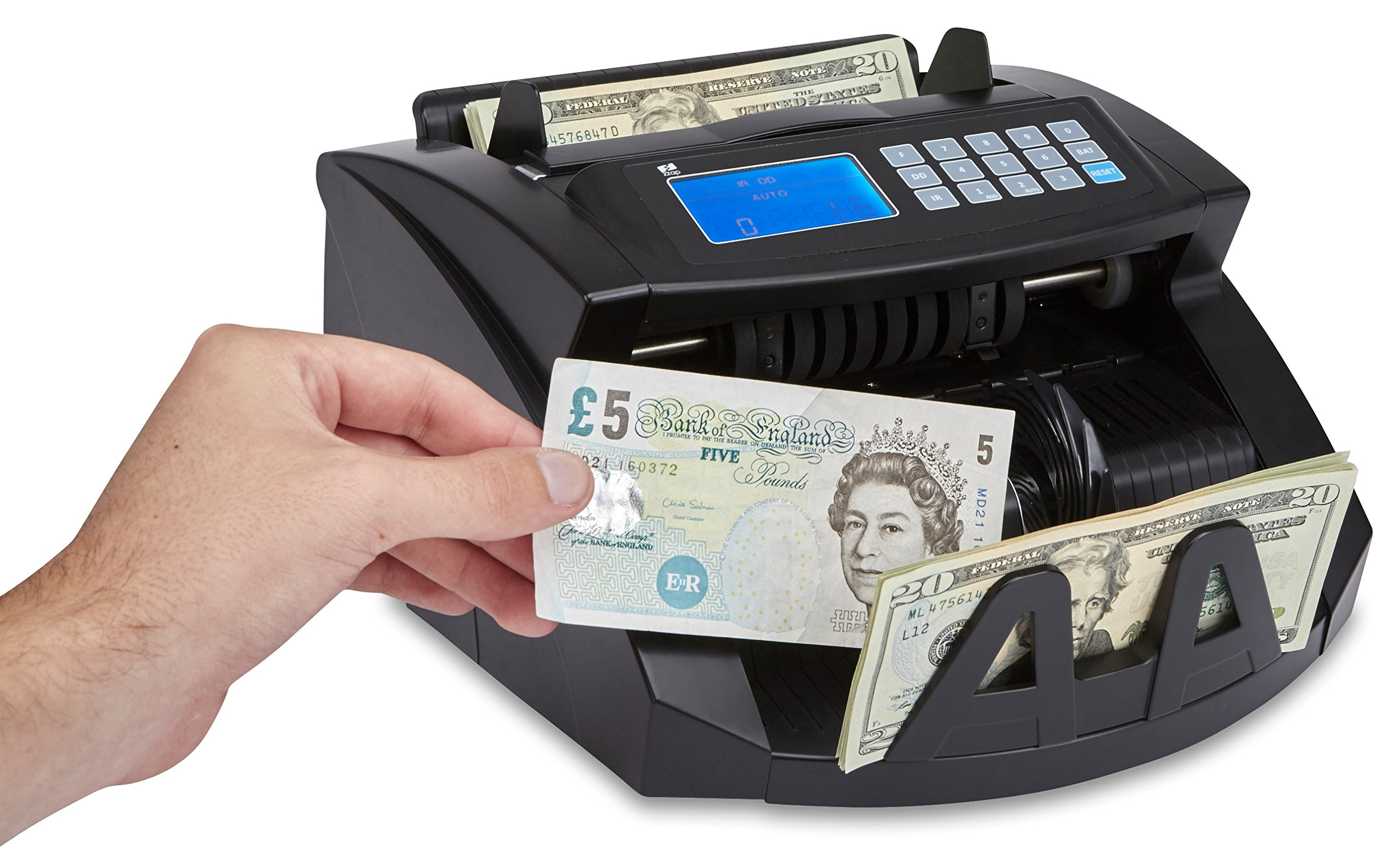 ZZap NC20 Bill Counter - Money Cash Currency Machine by ZZap (Image #6)