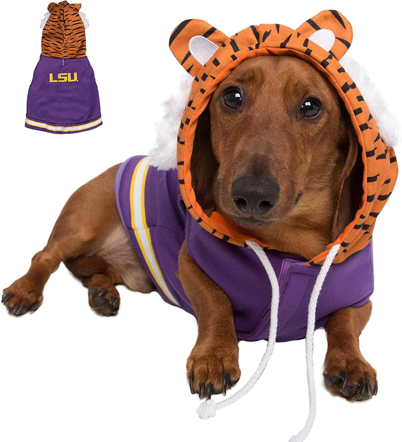 LSU Pet Jersey Dog Costume | Mike The Tiger Mascot Football Costumes for Dogs & Cats | Small, Medium, Large & XL Pets