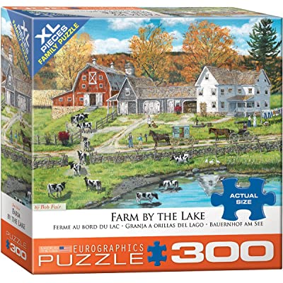 EuroGraphics (EURHR Farm by The Lake 300Piece Puzzle 300Piece Jigsaw Puzzle: Toys & Games