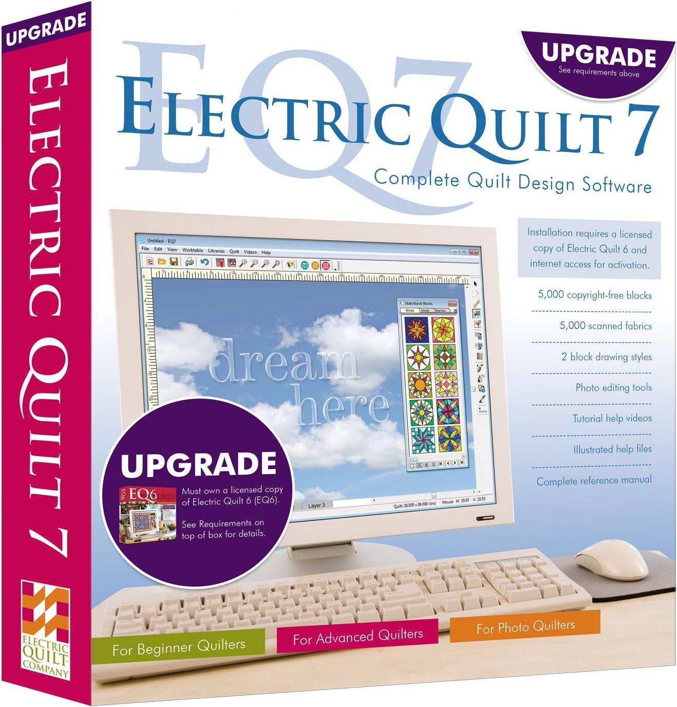 Amazon Com Electric Quilt 7 Eq7 Upgrade Quilting Design Software Program