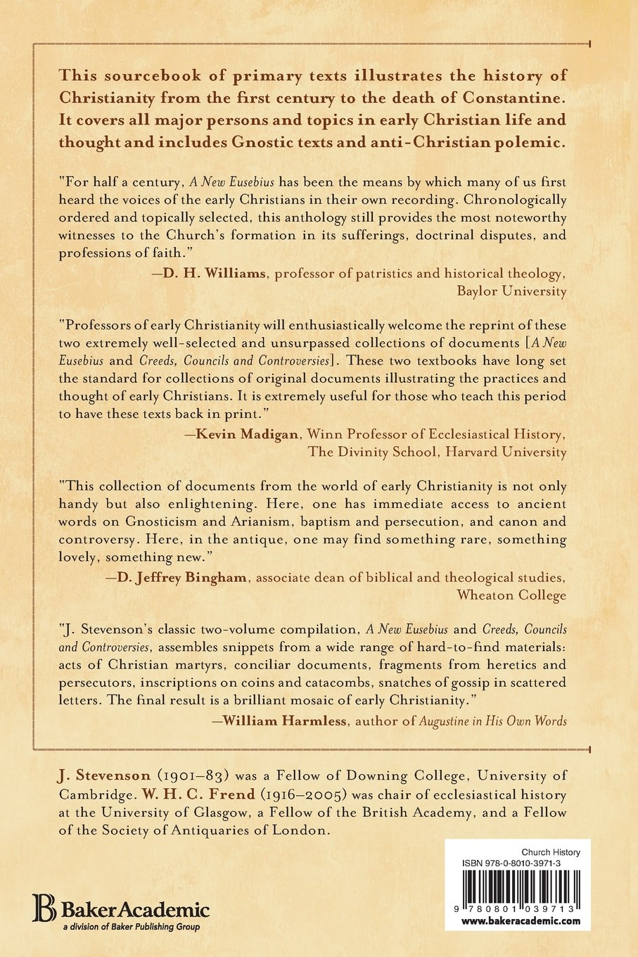 a new eusebius documents illustrating the history of the church