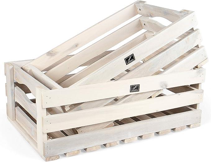 Vanage - Caja de Madera para Frutas y Verduras, Juego de 2, de ...