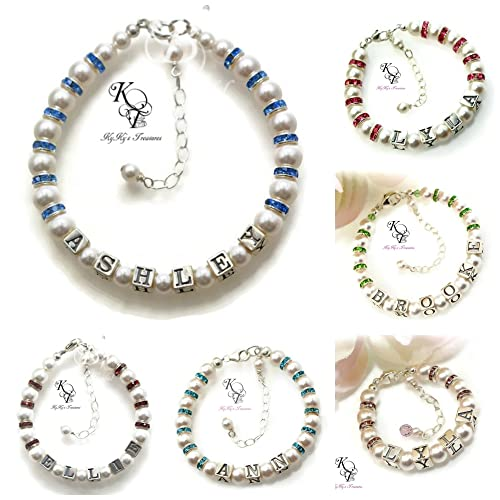 Amazon baby birthstone bracelet personalized baby birthday baby birthstone bracelet personalized baby birthday gifts baby bracelets personalized baby gifts negle