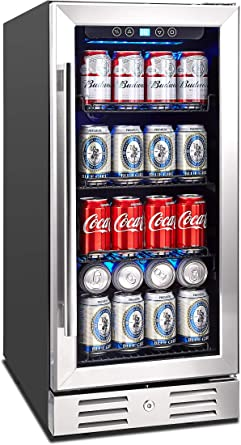 Kalamera Freestanding Touch Control Beverage Fridge
