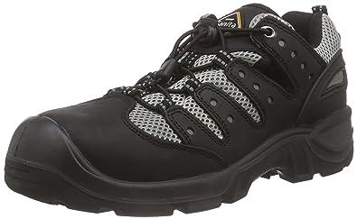 Sanita San-Safe Amazon Lace Shoe, Zapatos de Seguridad Unisex Adultos, Negro (Black 2), 45 EU