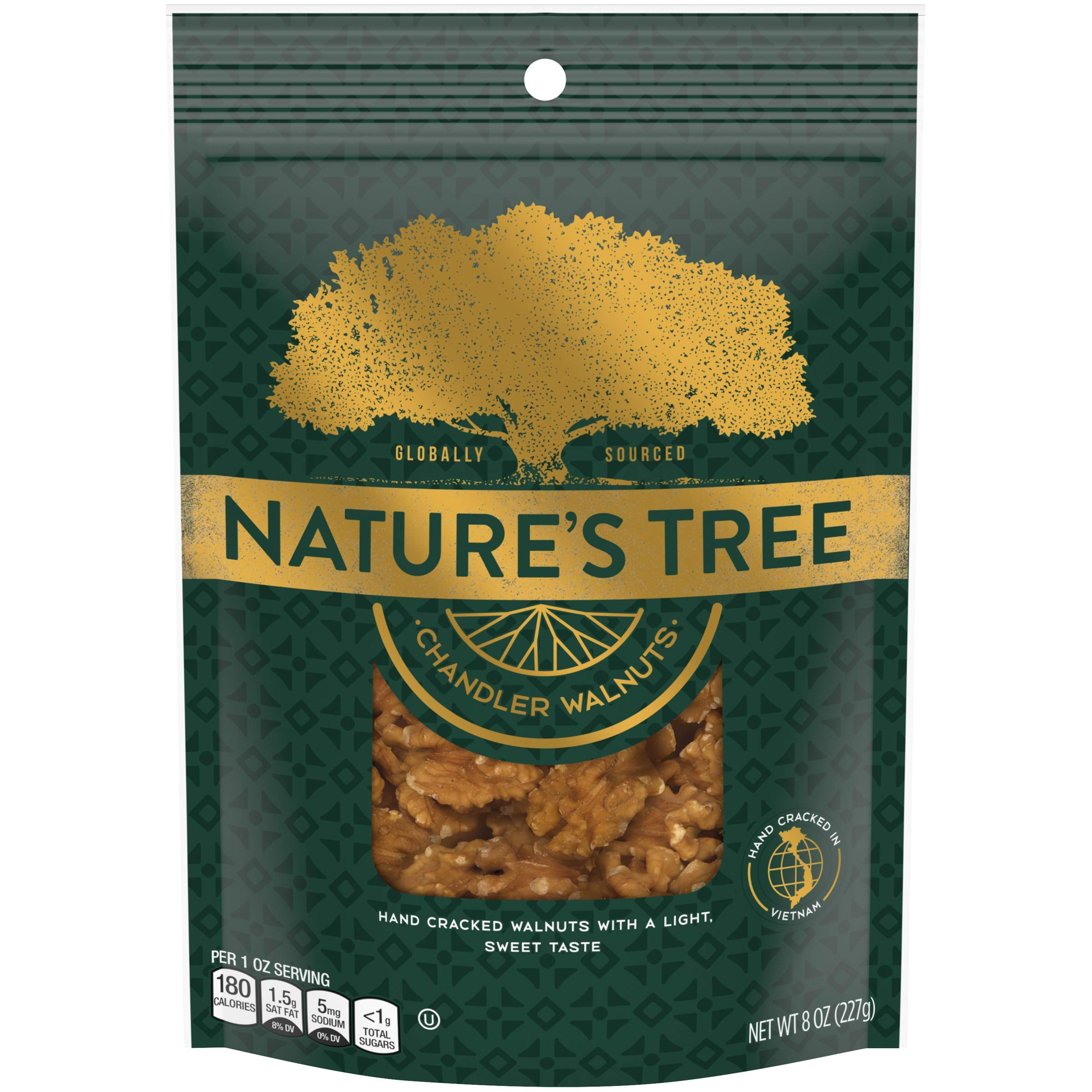 Nature's Tree Chandler Walnuts, 8 oz Bag (Pack of 9) by Nature's Tree