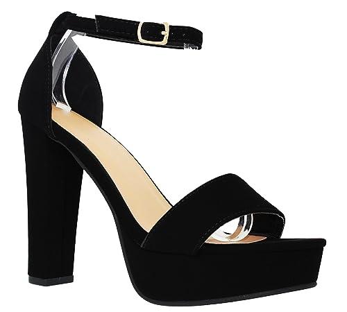 3d370d49f15 MVE Shoes Open Toe Ankle Strap Chunky Heel Pumps-Shoes