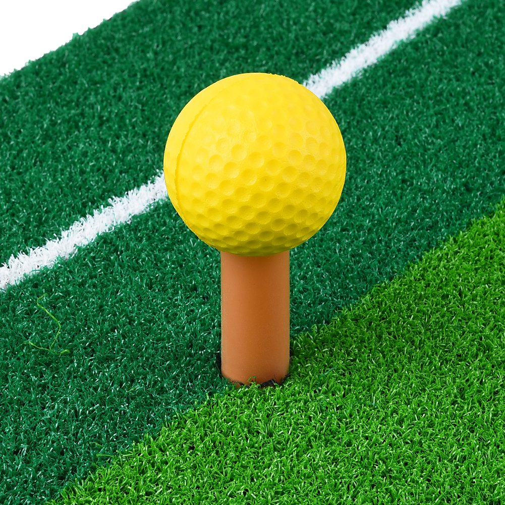RUNACC Portable Golf Hitting Mat Residential Practice Hitting Mat Mini Golf Hitting Pad with Tee, Suitable for Golf, Green by RUNACC (Image #3)