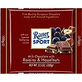 Ritter Sport, Milk Chocolate with Raisins & Hazelnuts, 3.5-Ounce Bars (Pack of 12)