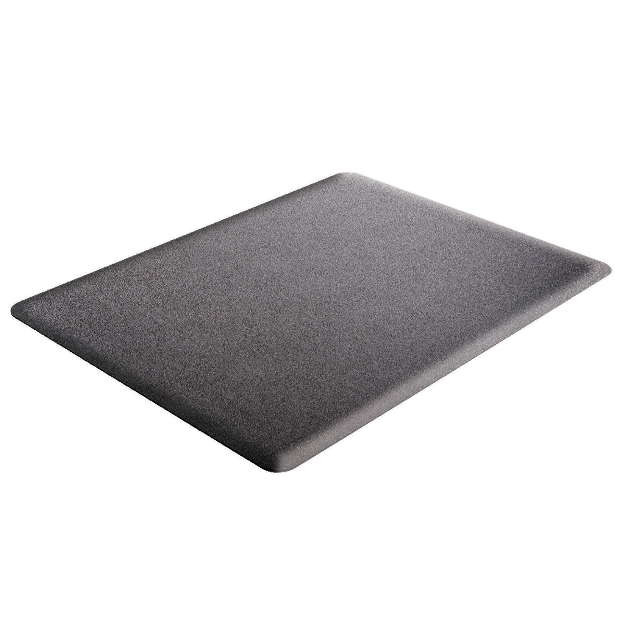 Deflecto Ergonomic Sit and Stand Black Chair Mat, Low Pile Carpet and Hard Floors, Rectangle, 46'' x 60'', Black