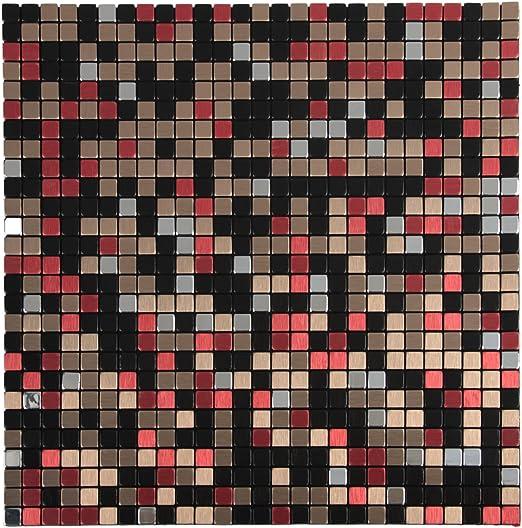 Amazon Com Royllent Aluminum Mosaic Tile Peel Stick Backsplash Accent Wall Furniture Decoration 1 Sq Ft Red Lips Home Kitchen