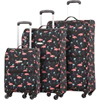 5 Cities Ultra Lightweight 4 Wheel Travel Trolley Carry On Hand Cabin Luggage Suitcase, Approved for Ryanair, easyJet, British Airways, Virgin Atlantic, Flybe and More