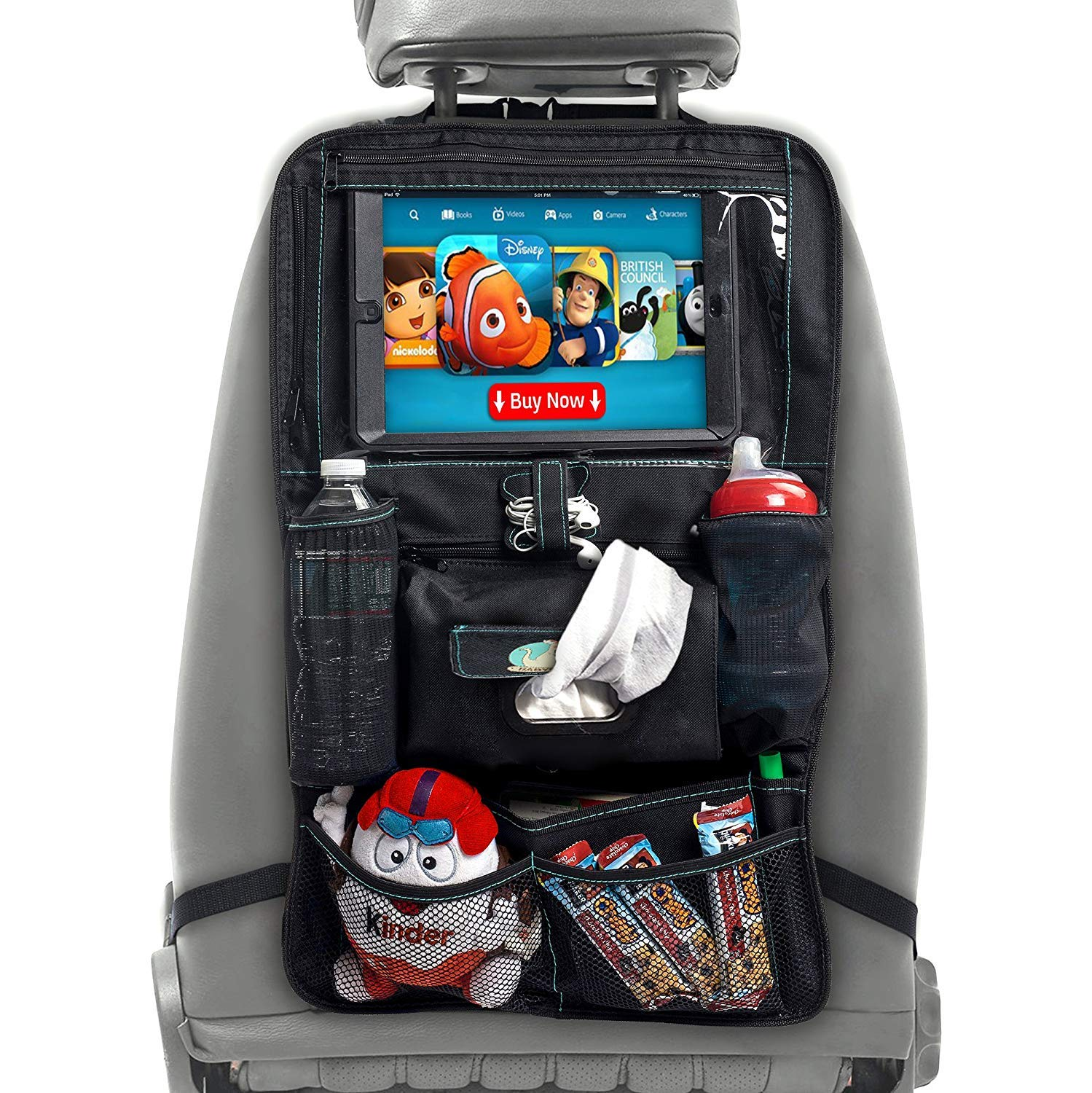 BABYSEATER Car Seat Organizer with Tablet Holder for Kids, XL by BABYSEATER