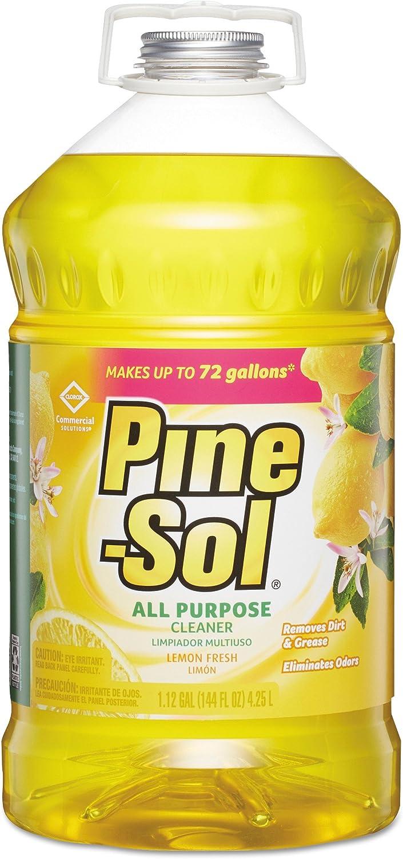 Pine-Sol 35419CT All-Purpose Cleaner, Lemon, 144 oz ,1 box / 3 Count