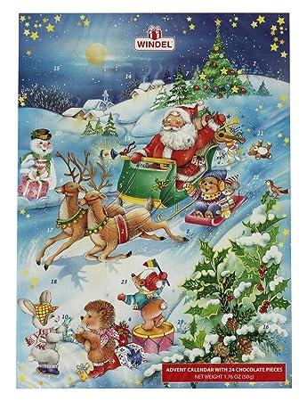 Schokoladen Weihnachtskalender.Amazon Com Windel Chocolate Advent Calendar Deutscher Schokoladen