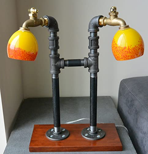 Delightful Industrial Plumbing Pipe Table Lamp