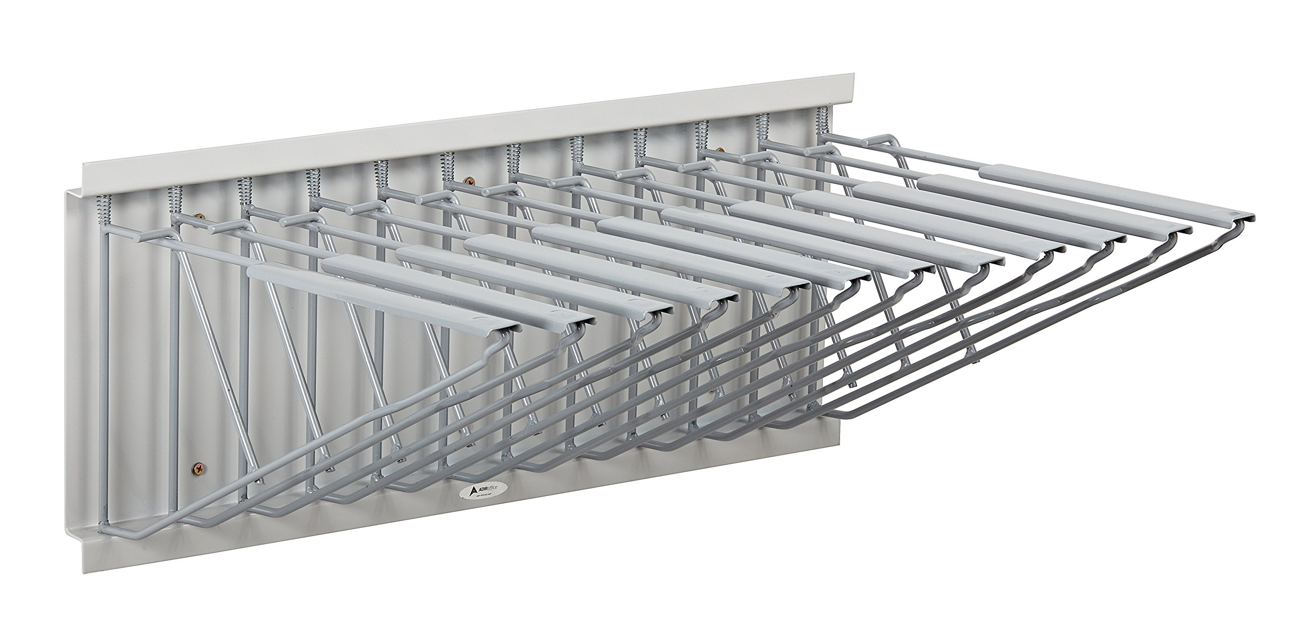 Adir Corp. Pivot Wall Rack with Hangers for Blueprints - Plans, Sand Beige by Adir Corp.