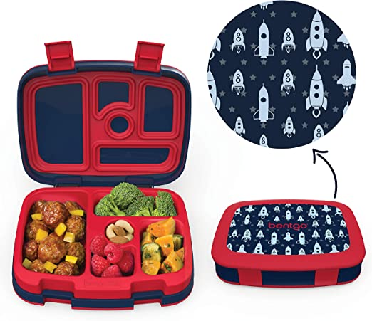 Boys Rocket Packed Lunch Dinner Box PERSONALISED Kids School Pack Lunch Bag