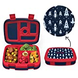 Bentgo Kids Prints (Space Rockets) - Leak-Proof, 5-Compartment Bento-Style Kids Lunch Box - Ideal Portion Sizes for Ages…
