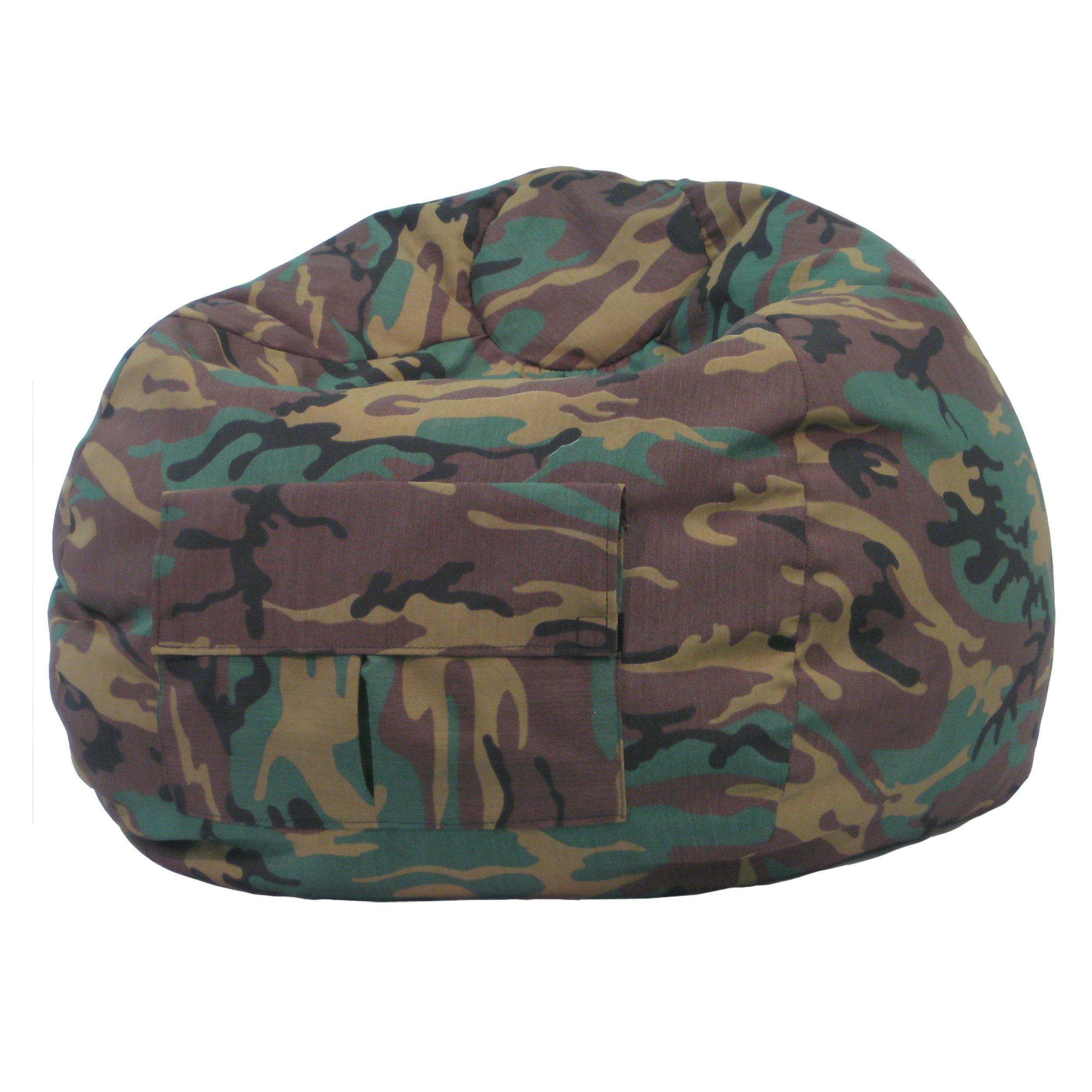 Gold Medal Bean Bags 31014084925 XX-Large Denim Bean Bag with Pocket, Camoflouge