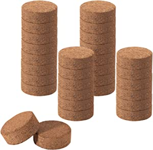 30pcs Compressed Coco Coir Fiber Potting Soil- 40mm Nursery Expanding Organic Fiber Soil Seeds Starting Plugs Coco Coir Pellet Fiber Soil Indoor Seed Starter Kit for Planter Pot Herb Flower Vegetables