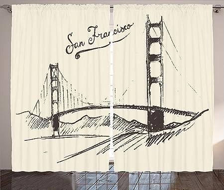 Apartment Decor Collection San Francisco Bridge Simple Classic