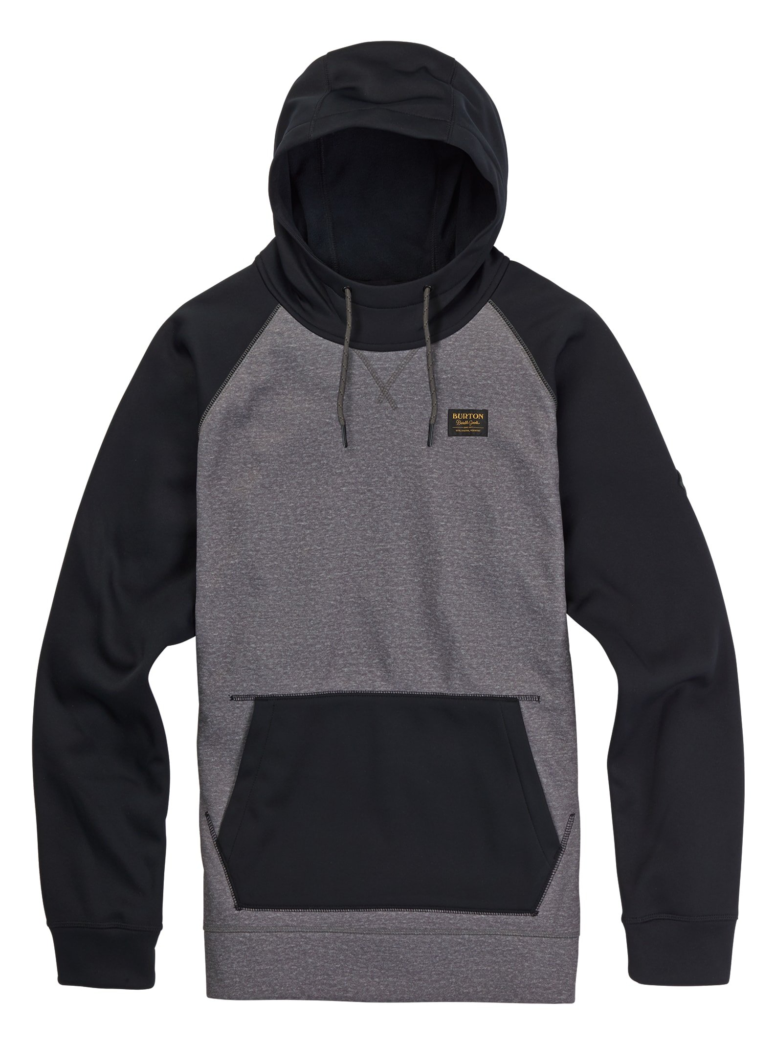 Burton Crown Bonded Pullover Hoodie, Monument Heather, Large