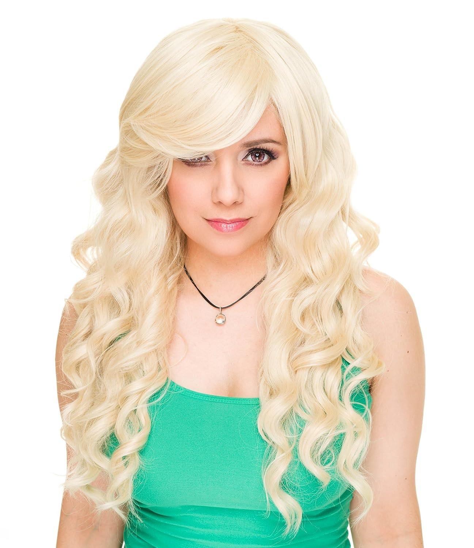 Rockstar Cosplay Blonde Mermaid Costume Wig Women's Long Curly Siren Anime Heat Rockstar Wigs