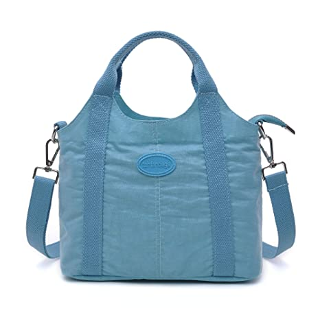 fanfanbags Bolsos Nylon Bandolera Infantil Niña de Majer Bolsa de Mensajero Bolso Impermeable Mujeres para Viaje Crossbody Bag (Azul)