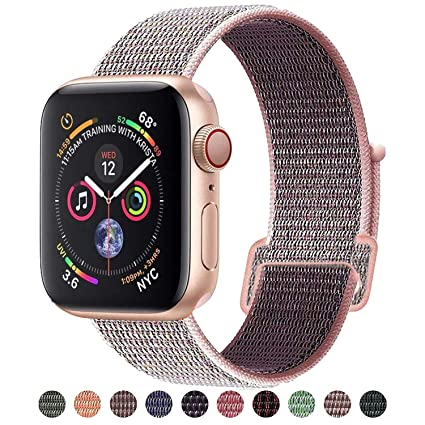 Apple Watch Nylon Sport Loop Band Strap For All Series 38 Jewelry & Watches 40mm 13 Colours New Attractive Appearance