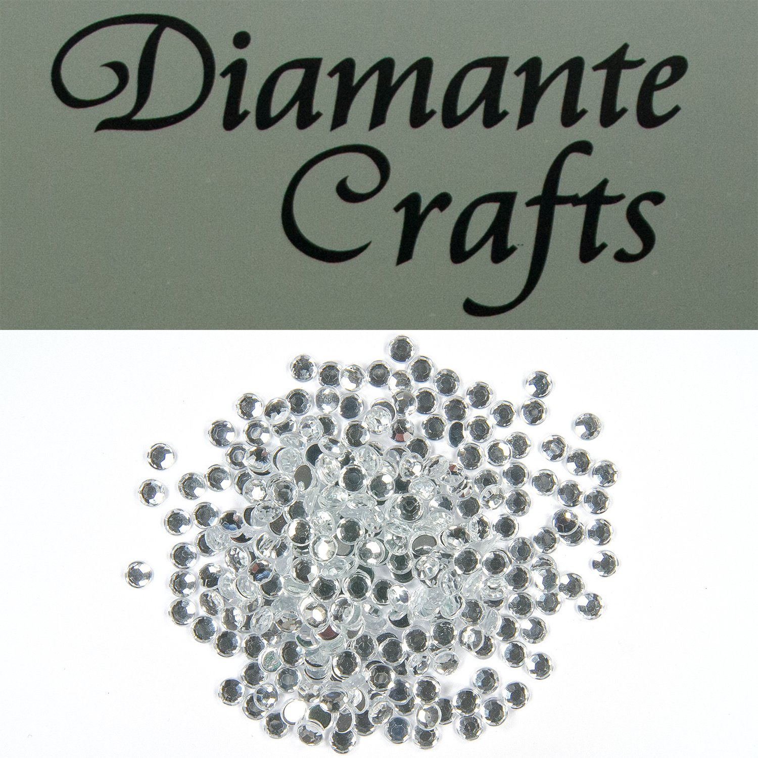 300 x 4mm Clear Round Diamante Loose Flat Back Rhinestone Gems created exclusively for Diamante Crafts