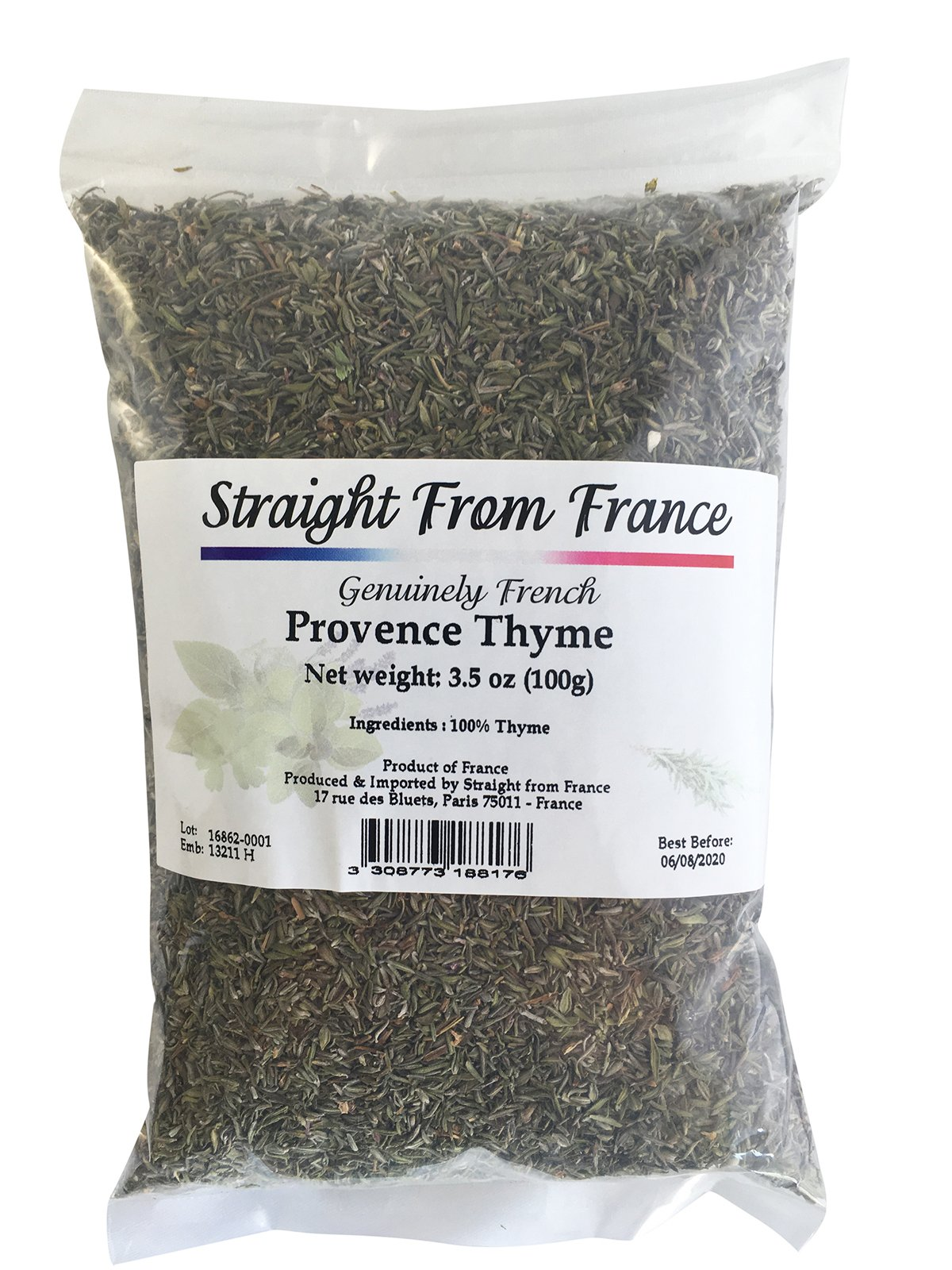 Straight from France Ground Thyme Leaves from Provence 3.53oz