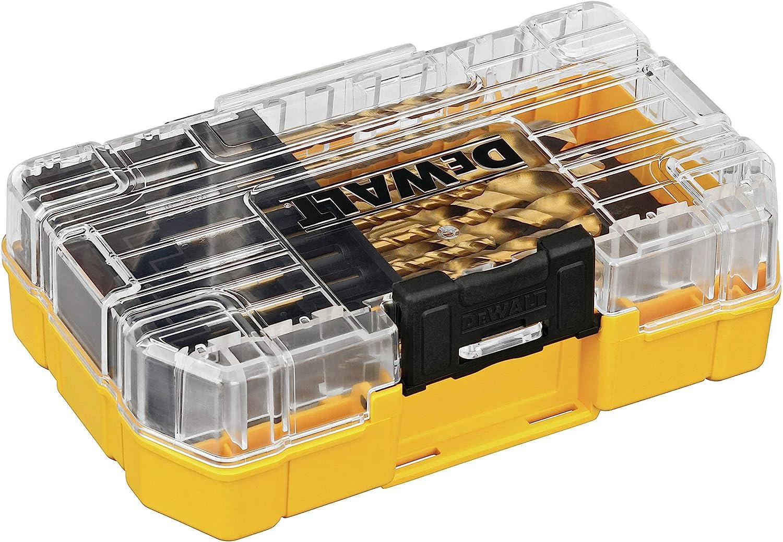 DEWALT DW1342 juego de brocas con punta de titanio, 21 unidades