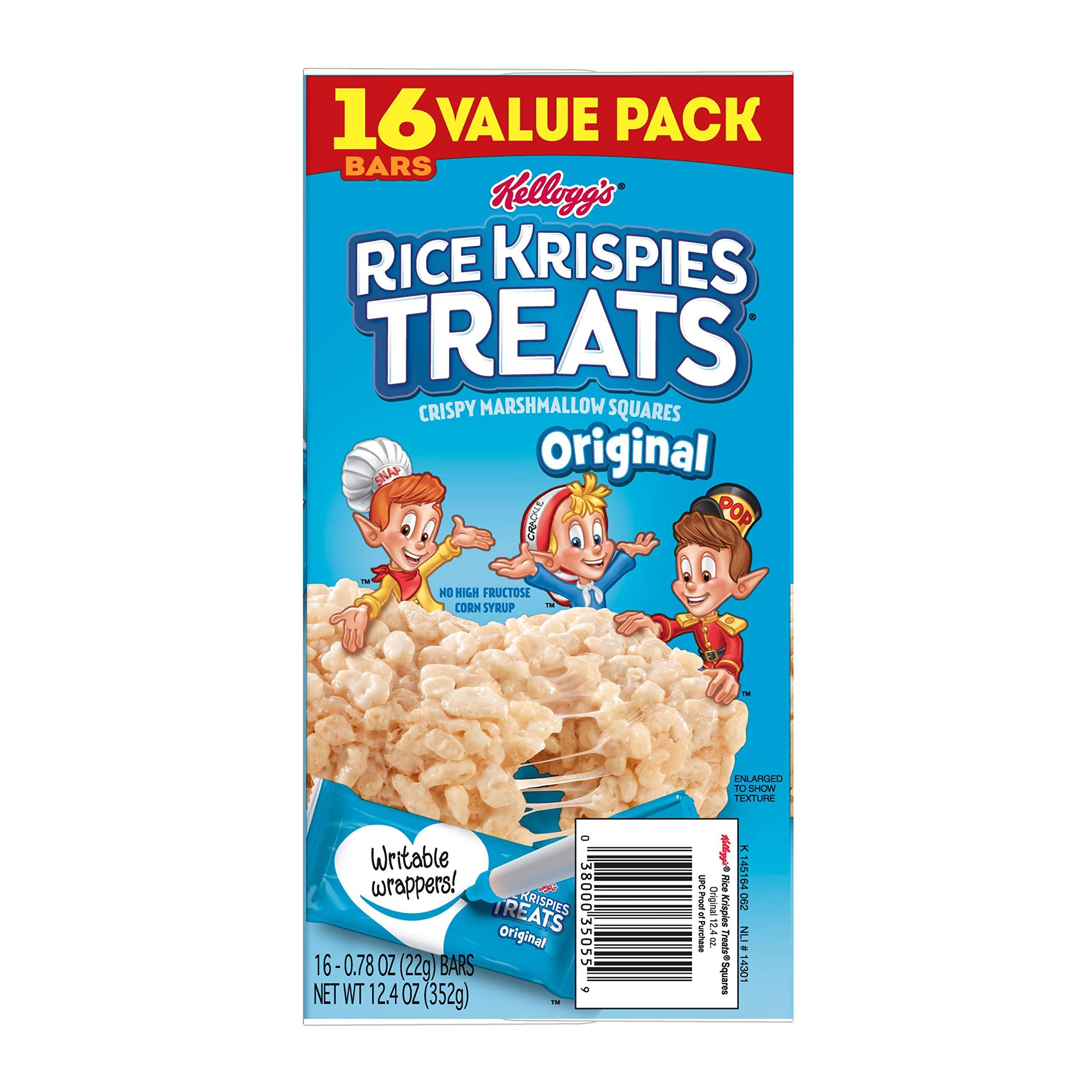 Kellogg's Rice Krispies Treats, Crispy Marshmallow Squares, Original, Value Pack, 0.78 oz Bars(16 Count) by Rice Krispies (Image #9)