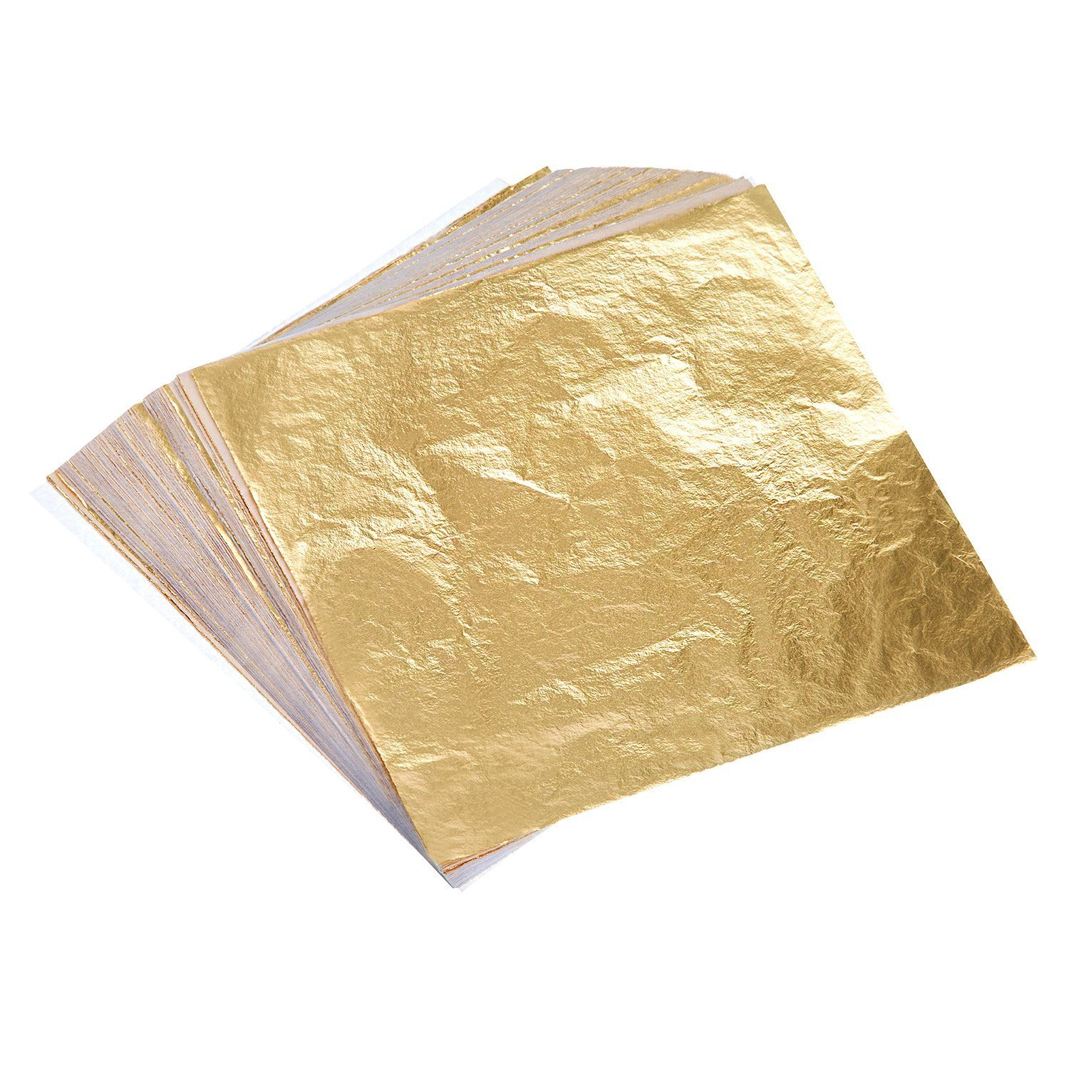 Professional Quality Imitation Gold Leaf Sheets, 25 Sheets, 5.5 inches Booklet (Loose/Type 2.5) sim depot