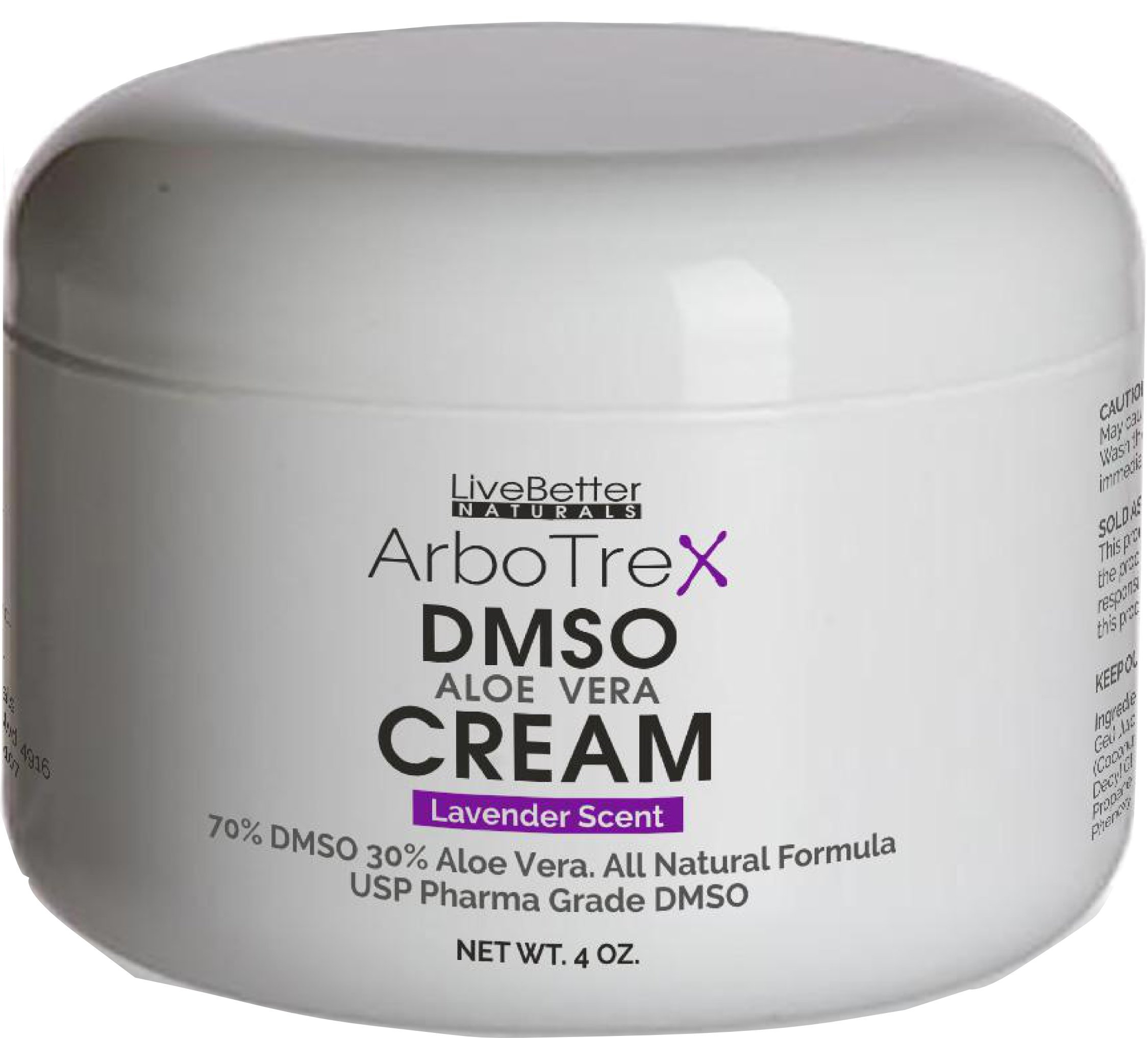 DMSO Cream With Aloe Vera - Lavender Scented, Made With 99.9% Pure Pharmaceutical grade DMSO - 70% DMSO/30% Aloe Vera, Made in USA for Live Better Naturals 4 oz by Live better Naturals
