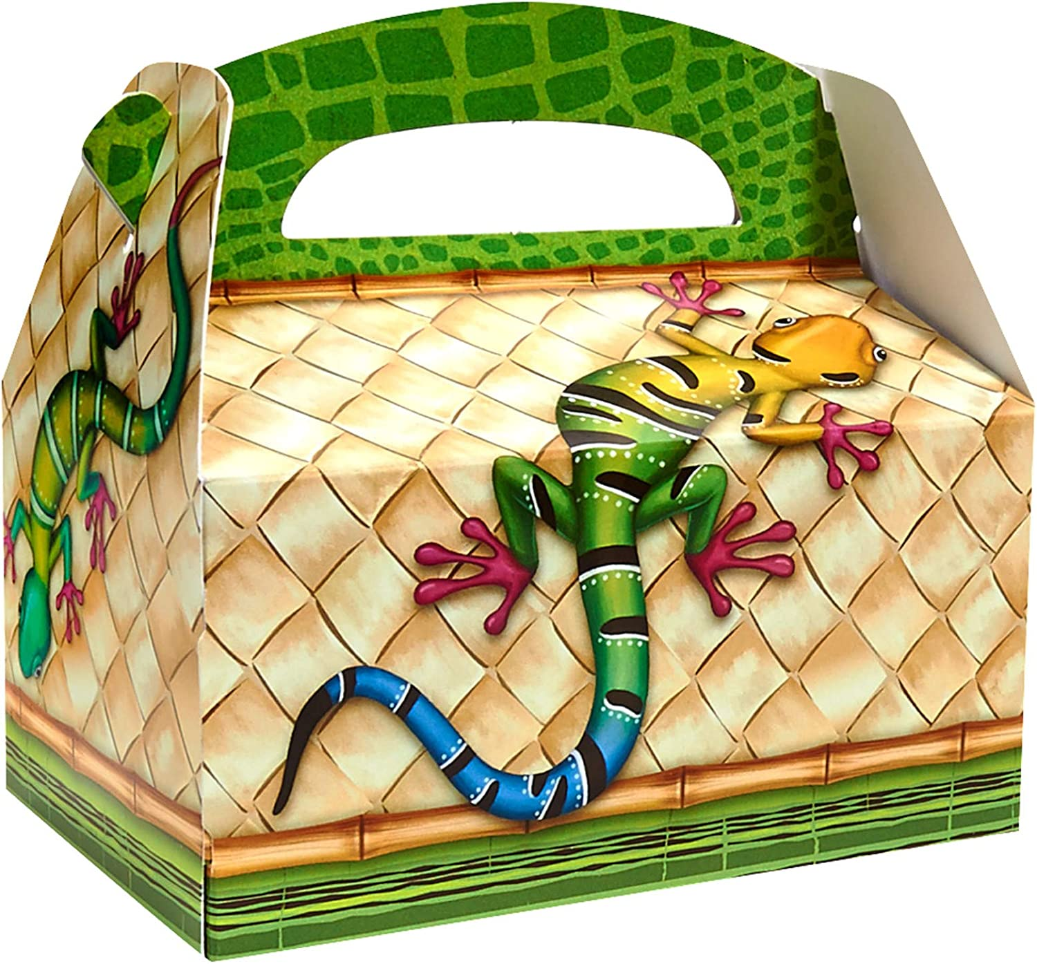 BirthdayExpress Jungle Party Supplies - Empty Party Favor Boxes (4)