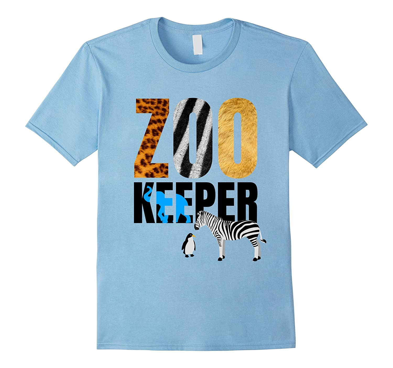 Zoo Keeper T-Shirt. Wild Tiger Lion Zebra Pinguin Jersey-FL