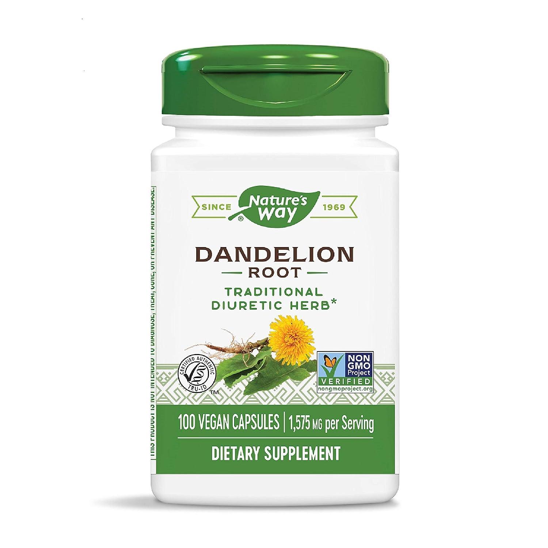 Nature's Way Dandelion Root, Digestive Aid, 100 Vegetarian Capsules