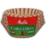Melitta 8-12 Cup Basket Coffee Filters, Natural Brown, 200 Count (Pack of 6)