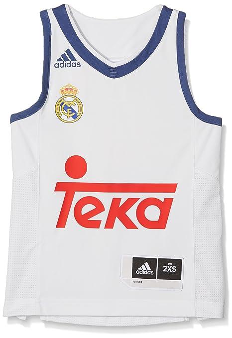 Adidas Línea Real Madrid CF Camiseta, Niños, Naranja (Balcri), 9-