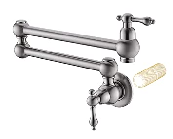 Havin Hv1003 Pot Filler Folding Faucet Brushed Nickel Stretchable