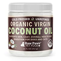 Raw Paws Organic Virgin Coconut Oil for Dogs & Cats, 16-oz - Supports Immune System...